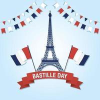 bastille dag firande med franska ikoner