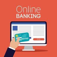 Online-Banking-Technologie mit Desktop-Computer
