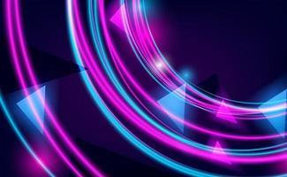 Kreisecke Umriss rosa und Cyan leuchten vektor