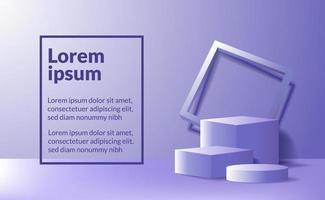 Leere Podestbühne des modernen Minimalismus für die Produktausstellung vektor