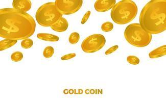 Geld des goldenen Dollars 3d vektor