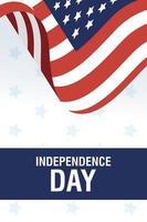 USA Unabhängigkeitstag Feier Banner mit Flagge vektor