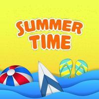 hej sommartid resor sandstrand vektor
