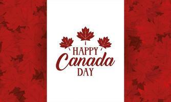 Happy Canada Day Feier Banner mit Ahornblättern vektor