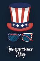 USA självständighetsdagen firande banner vektor