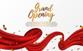 Partyvorlage für die große Eröffnungsfeier mit goldenem Confettio