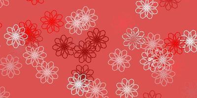rotes natürliches Layout mit Blumen.