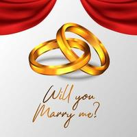 3D glänzender doppelter goldener Ring
