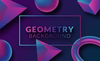 moderner abstrakter 3d geometrischer Hintergrund
