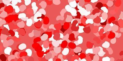 röd bakgrund med kaotiska former.