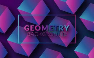 geometrischer Hintergrund des modernen abstrakten Würfelmusters 3d