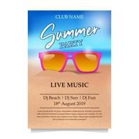 Sommer Beach Party Poster Flyer Banner vektor