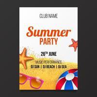 Sommer Strand Party Poster Flyer Banner Design-Element vektor