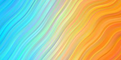 hellblaues, gelbes Layout mit Kreisbogen. vektor