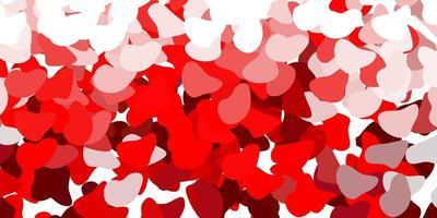 röd bakgrund med kaotiska former. vektor