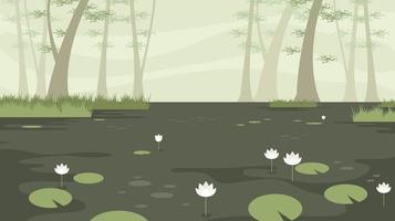 Lotus im freien Vektor Bayou