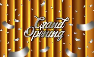 goldene Eröffnungsfeier mit goldenem Vorhang