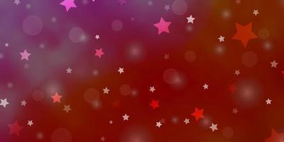 rote Textur mit Kreisen, Sternen. vektor