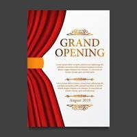 grand invigningsfest ceremoni av röd gardinsilke
