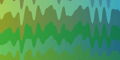 ljusgrön, gul mall med böjda linjer.