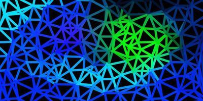 ljusblått, grönt triangelmosaikmönster. vektor