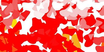 rote Vorlage mit abstrakten Formen.