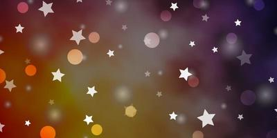 rote, gelbe Textur mit Kreisen, Sternen. vektor