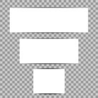 banners mall med skuggor vektor
