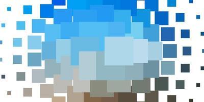 ljusblå, gul mall med rektanglar.