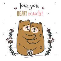 Liebe dich Beary viel Vektor