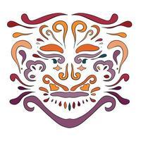 etniska mönster. skönhetsprydnad i boho-stil.