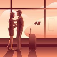 Auf Wiedersehen am Flughafen Vector