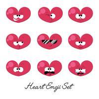 hjärta emoji sätta vektor