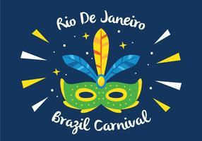 mask av rio karneval vektor