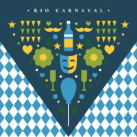 Rio Carnaval Dreieck Konzept