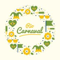Kreis Rio Carnaval Vektor