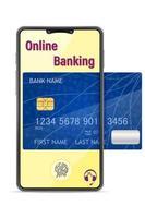 smarttelefonkoncept onlinebank vektor