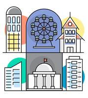 Lineare Stadtgebäude