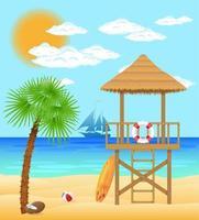 strand badvakt torn vektor