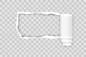 zerrissene Papierkante für Design mit transparenter Raumschablone vektor