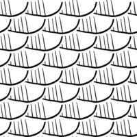 handritad svartvitt abstrakt formmönster