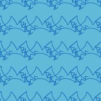 handritad blå klotterlinjer mönster