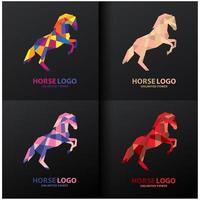 häst logo design set vektor