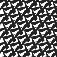 handgezeichnetes abstraktes Schwarzweiss-Formmuster vektor