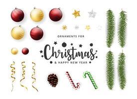 Weihnachts- und Neujahrsdekorationselemente vektor