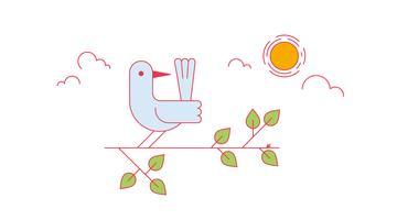 Fågelvektor vektor
