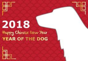 Jahr des Hundes Hintergrund vektor