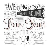 Nyår Typografi Vector Bakgrund