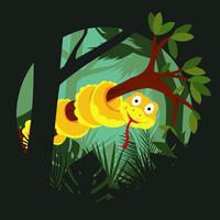 Anaconda på gren illustration