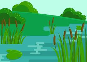 Sumpf-Szenen-Illustrations-Vektor vektor